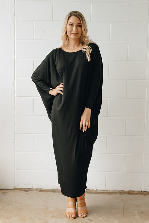 Long Sleeve Maxi Miracle Dress In Black PQ Collection