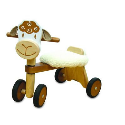 A ride-on sheep, Wooden trike
