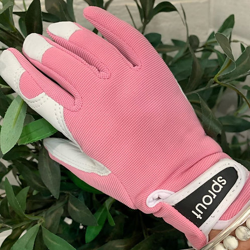 Sprout Goatskin Gloves-Pink
