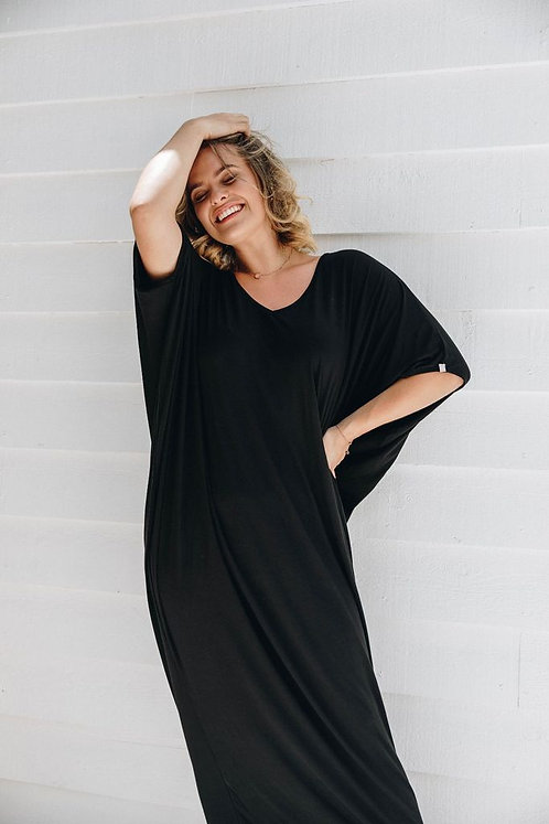 Maxi Miracle Dress In Black PQ Collection