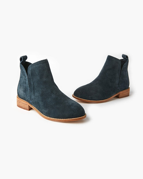 Douglas Leather Ankle Boot - Navy Nubuck