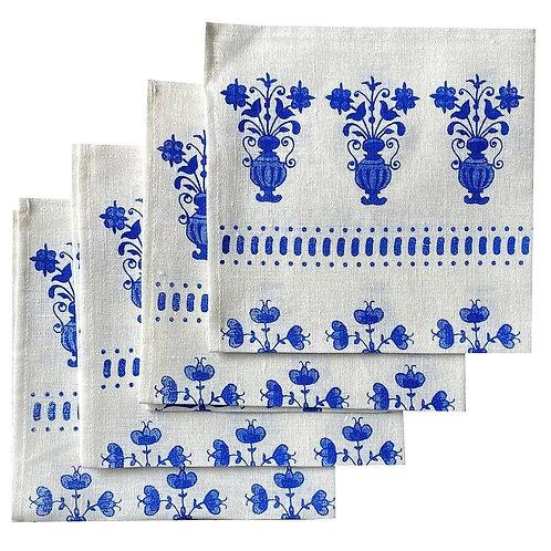 Cobalt Delft Vase Linen Napkins (Set of 4)