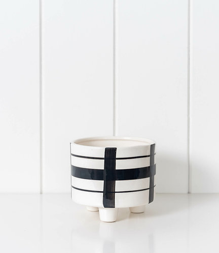 Planter - Black and White All Over