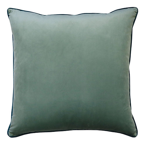 Madras Link Clifton Seafoam Velvet Piped Cushion