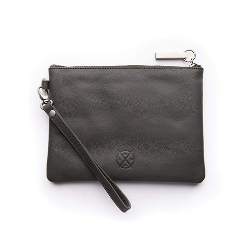 Cassie Clutch In Charcoal