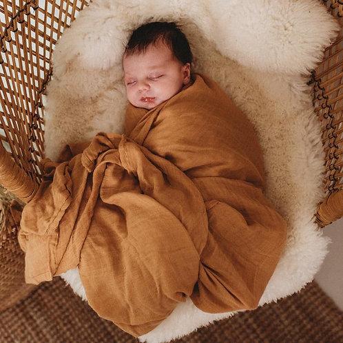 Organic Bamboo Muslin- Ginger