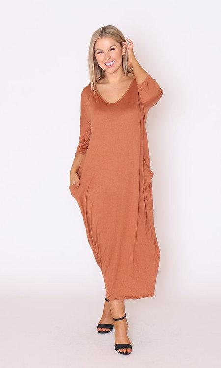 Rust Maxi Dress