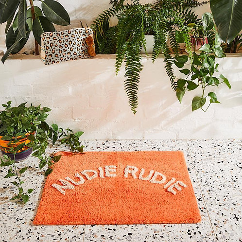 Sage and Clare Tula Nudie Bath Mat Tangerine
