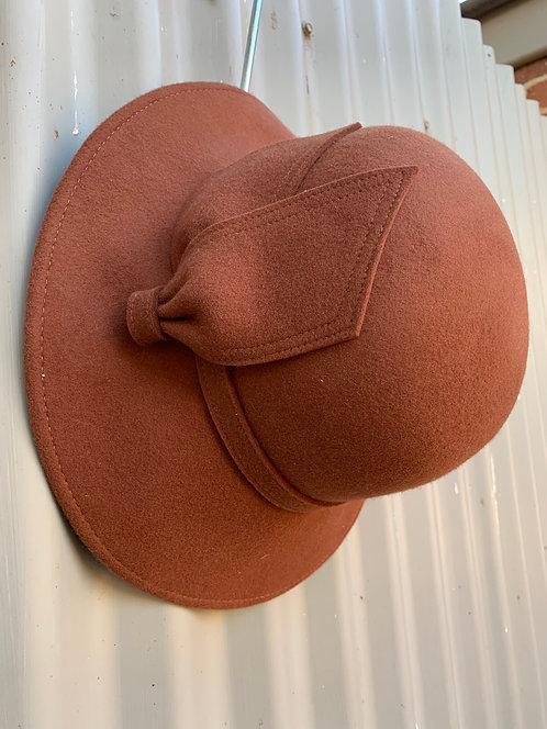Wool Felt Bell Cloche- Rust