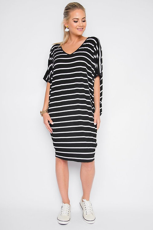 Miracle Dress in Black and White
