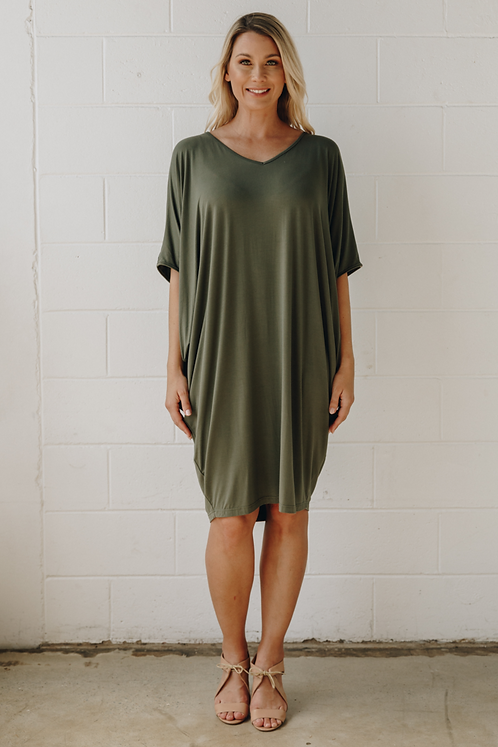 Miracle Dress In Khaki PQ Collection
