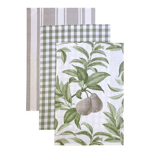 Pears Tea Towel Pack - Set of 3