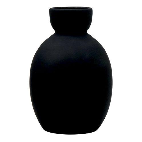Tate Egg Black Matte Vase Madras Link