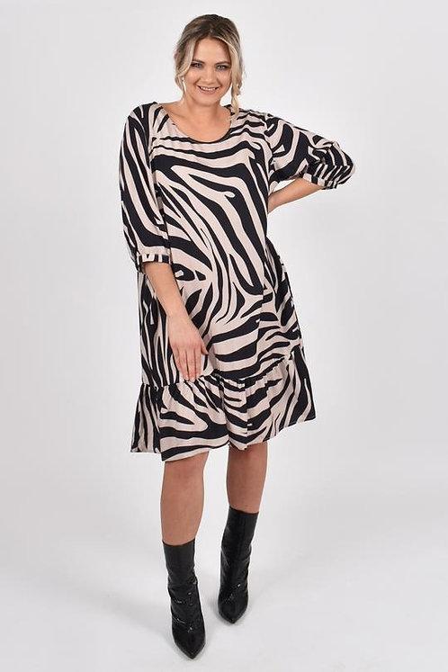 Flare Dress in Oak Zebra