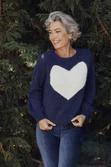 Heartscape Knit In Midnight Blue