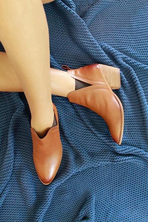 Thea Tan Leather Boot