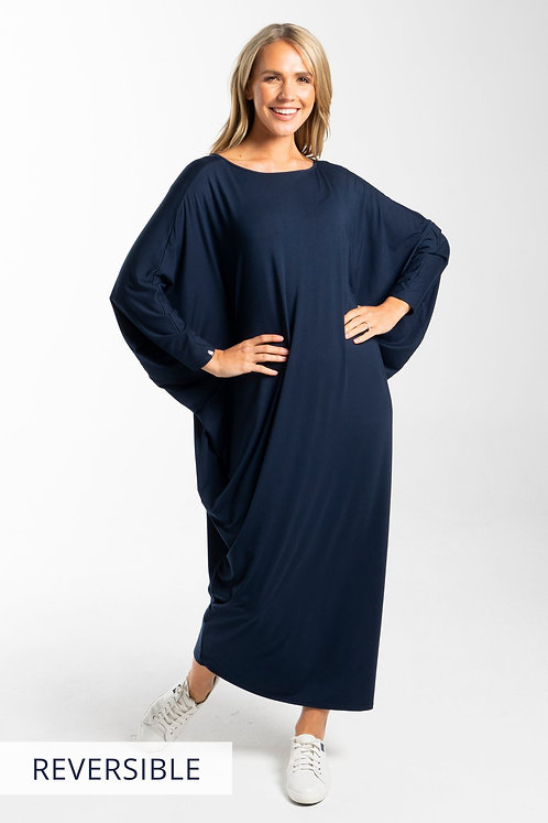 Long Sleeve Maxi Miracle Dress In Navy PQ Collection