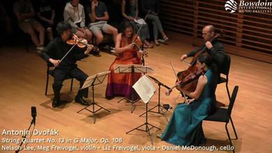 Dvořák String Quartet No. 13 in G Major, Op. 106: Fourth Movement