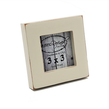 """3x3 1"""" Gallery Picture Frame - Off White"""
