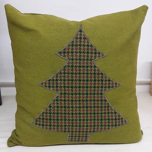 Fir Tree Appliqued Cushion
