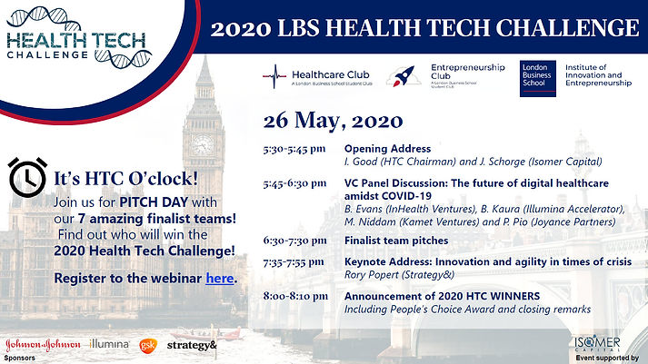 2020 LBS Health Tech Challenge_Pitch Day