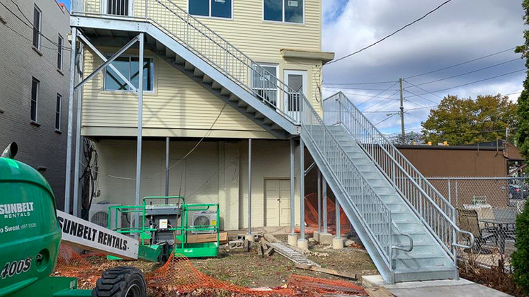 Staircase installed (Lombardo) in Kingston, PA.