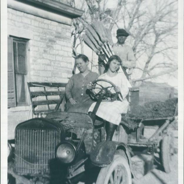 Grandma Rose Morris driving the farm truck c. 1922