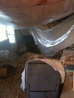 Living room plaster ceiling collapse, Ch