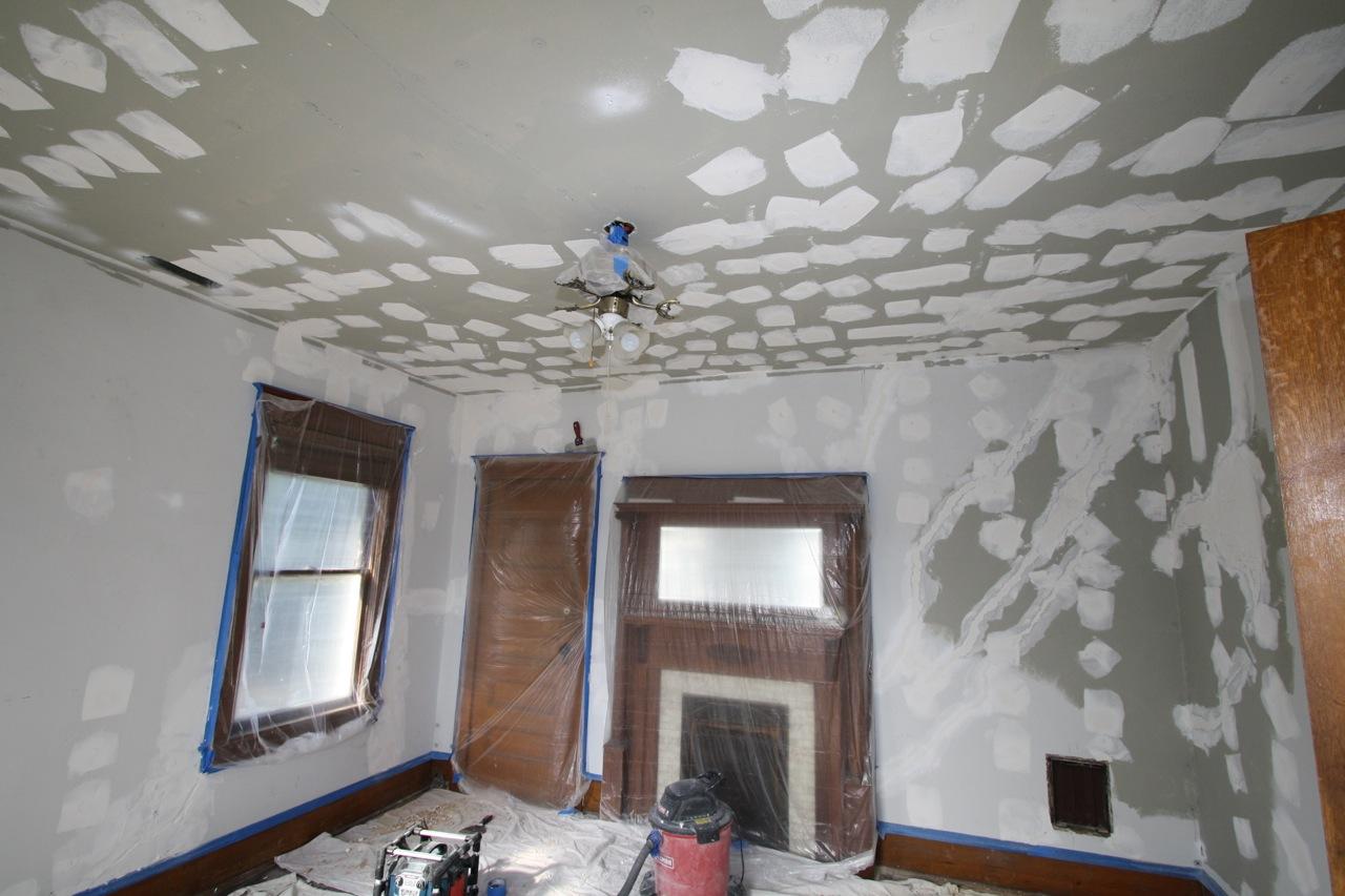 Ceiling and wall repair, Winston Salem, N.C.