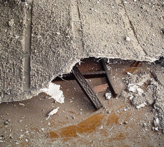 Plaster over metal lath ceiling collapse