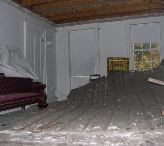 Emily Dickinson's ceiling on the ground.