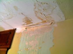 Water damaged ceiling, Winston Salem, before