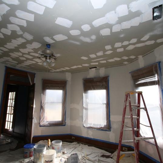 Plaster repair, ceilings and walls, Wins