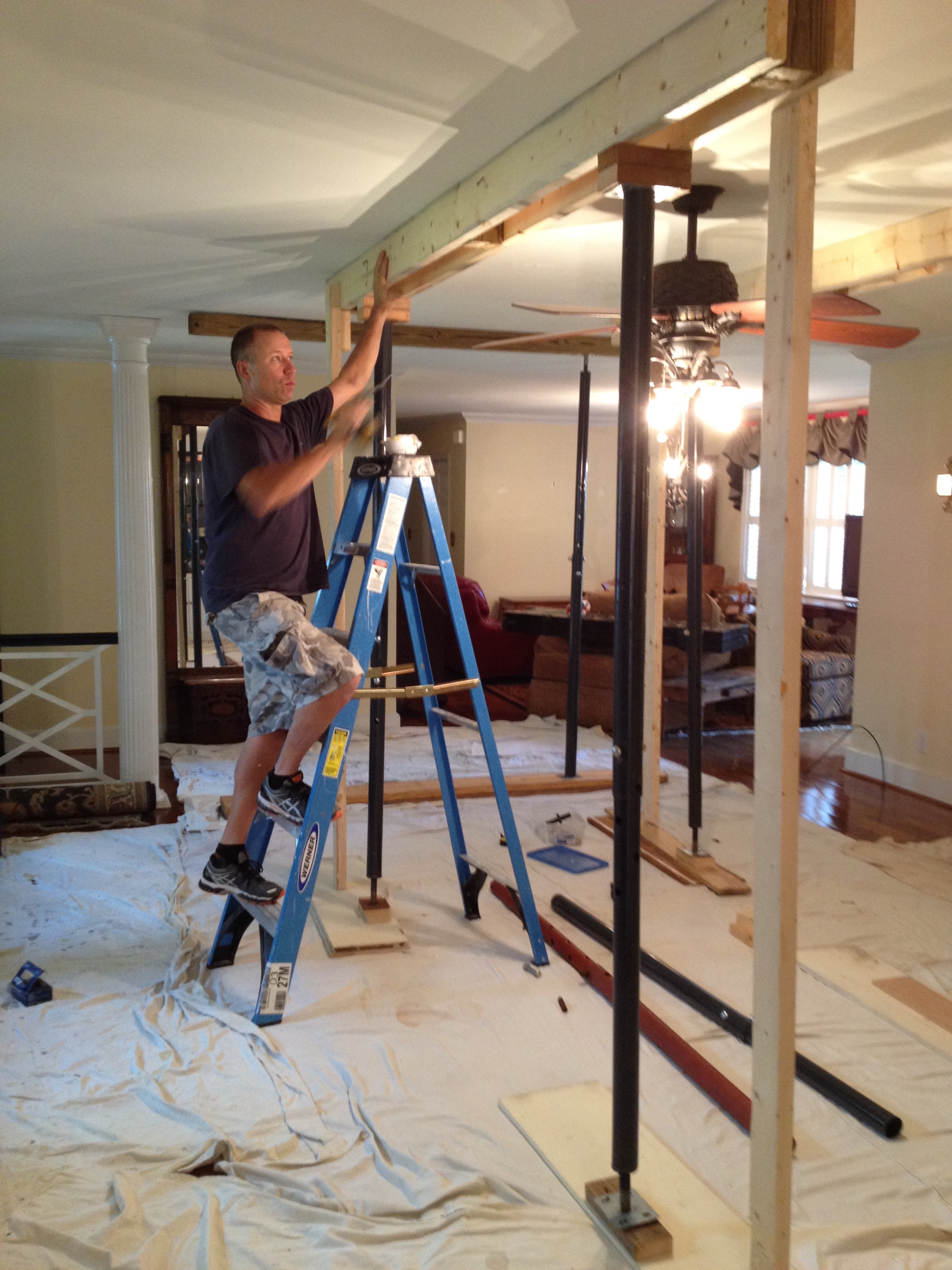 Plaster Ceiling restoration, Burlington,