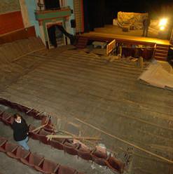 Everett Theatre plaster ceiling collapse