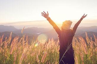 Carefree Happy Woman Enjoying Nature on