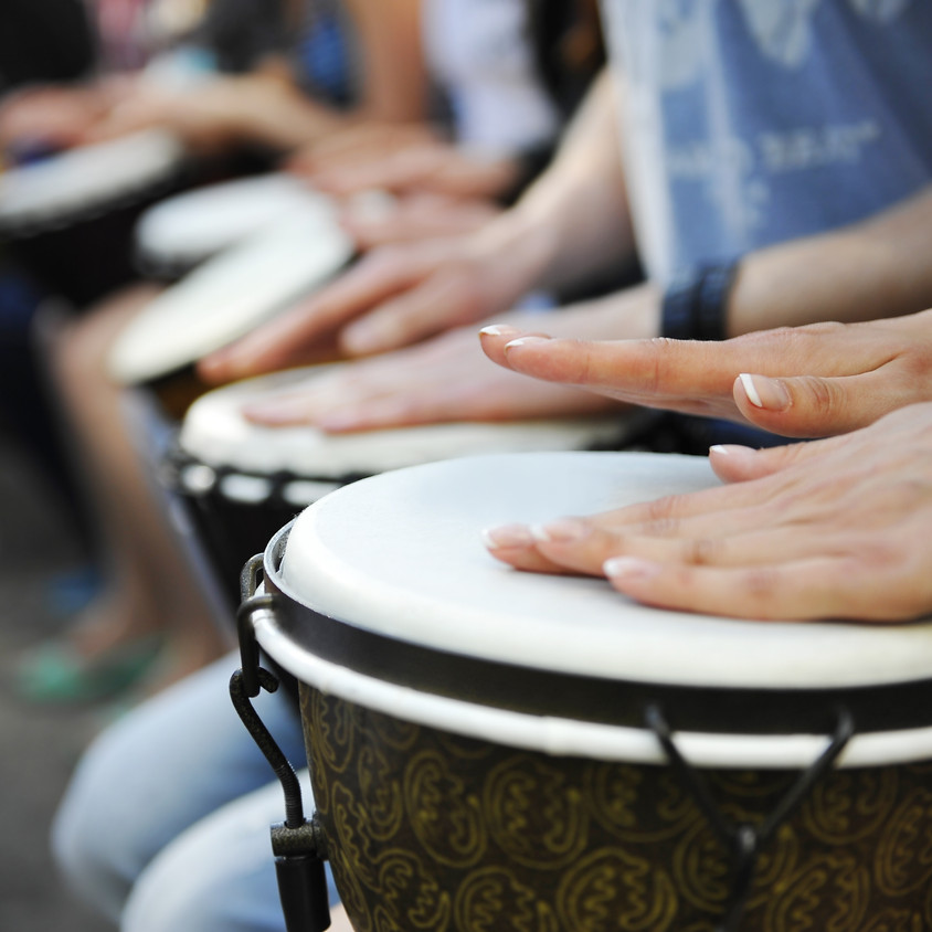 Unity in Community Drum Circle at the Studio!  $10