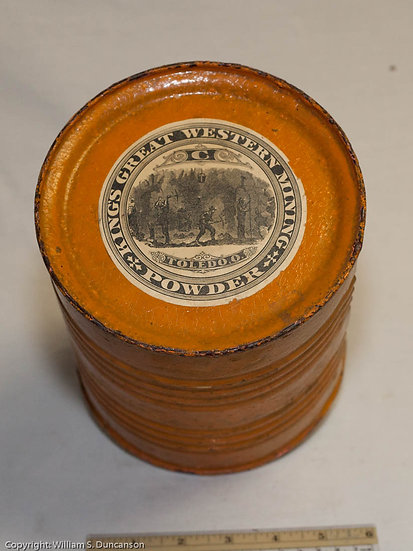 5 Pound King's Great Western Mining powder Drum