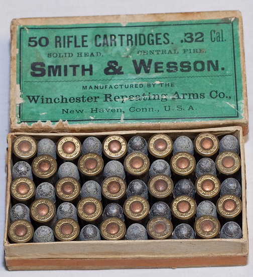 .32 Smith and Wesson Box of 50 cartridges by Winchester
