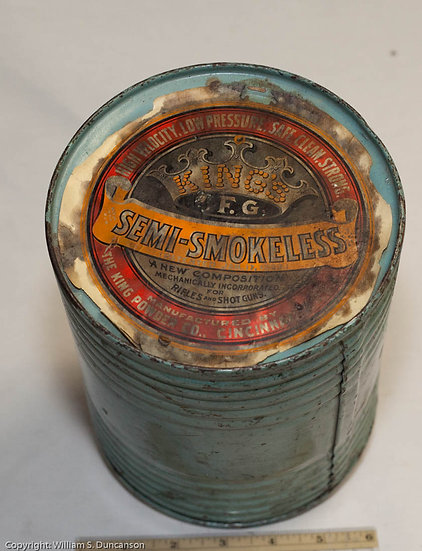 5 Pound Powder Drum by King's Mills Powder Company