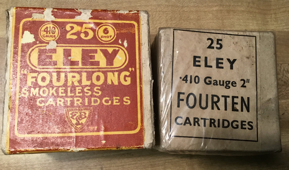 Eley Brothers London 410 Shot Shell Boxes