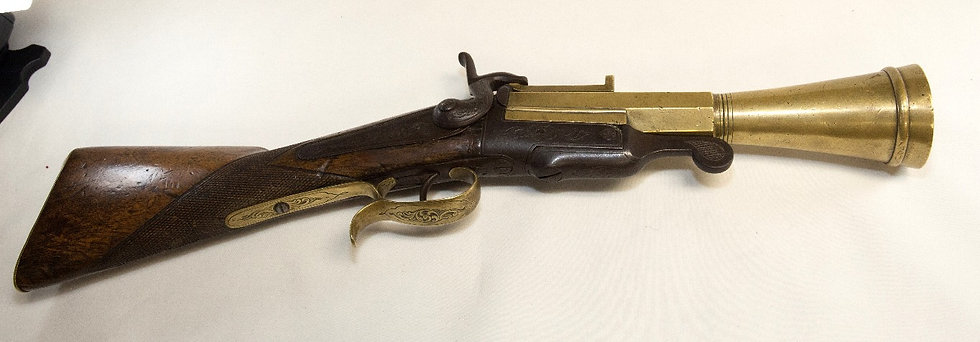16 gauge Pinfire Blunderbuss.