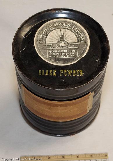 5 Pound Black Powder Drum by DuPont Powder Company