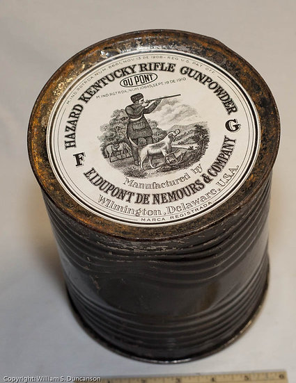 5 Pound Hazzard Kentucky Rifle Gun Powder Drum