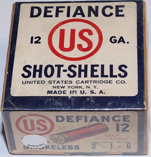 Defiance 12 gauge shot shell box.