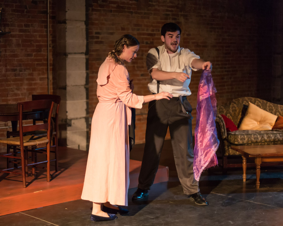 Danielle Owen (Laura) and John D. DiFerdinando (Tom)