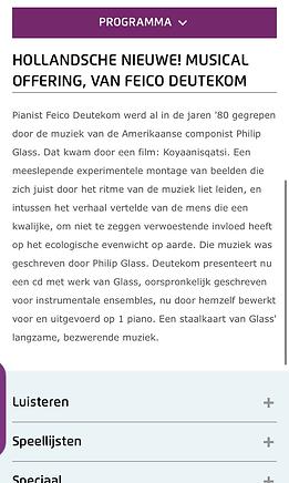 Hollandsche Nieuwe! Musical offering van