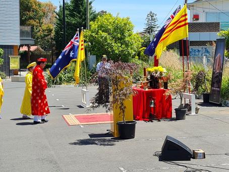 Lễ Tế Tổ nơi mảnh đất xây dựng Viện Bảo Tàng - Dedication ceremony at the Land of Hope