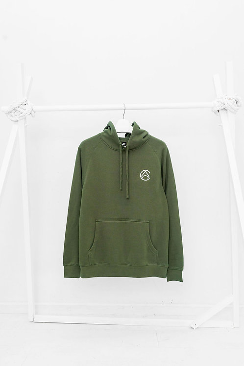 CA Light Embroidered GREEN Hoodie