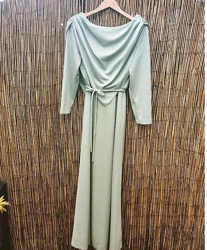 Vinatge 70's Berketex Evening Dress in Pistachio